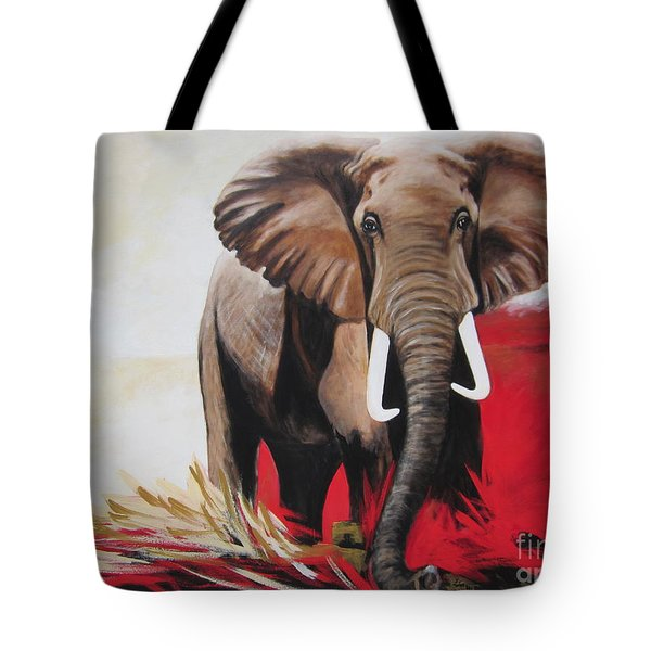 Bumper The  Bull Elephant  Tote Bag
