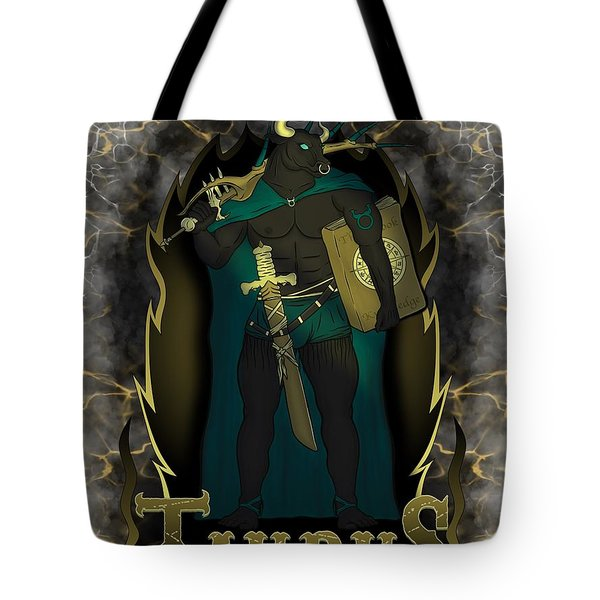 The Bull Taurus Spirit Tote Bag