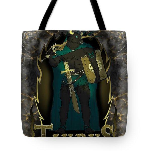 The Bull Taurus Spirit Tote Bag