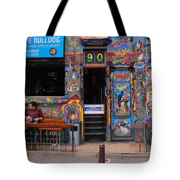 The Bulldog Of Amsterdam Tote Bag by Allen Beatty