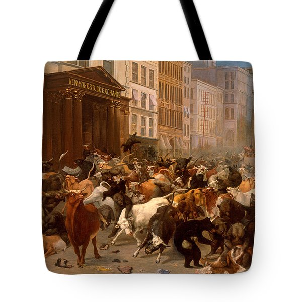 The Bulls And Bears In The Market Tote Bag