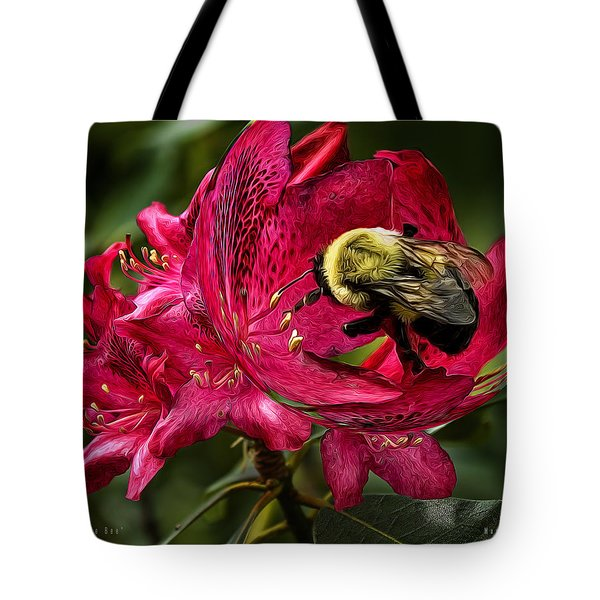 The Bumble Bee Tote Bag by Mark Allen