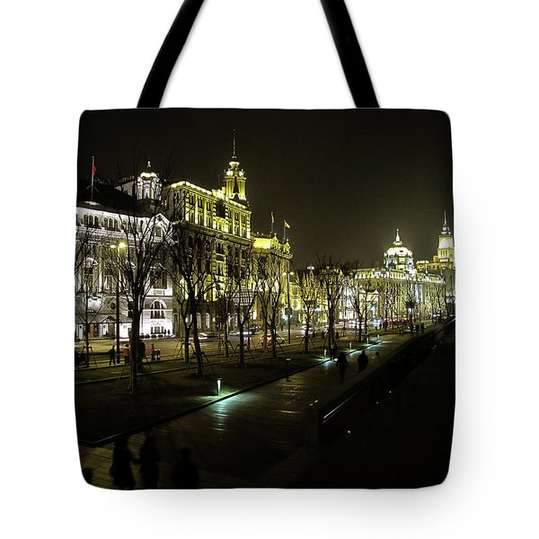 The Bund - Shanghai's Famous Waterfront Tote Bag by Christine Till