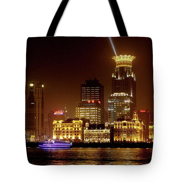 The Bund - Shanghai's Magnificent Historic Waterfront Tote Bag by Christine Till