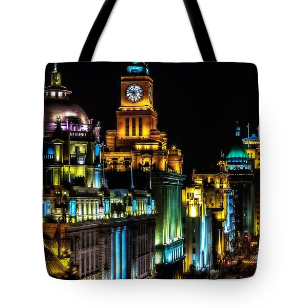 Tote Bag featuring the photograph The Bund by Jason Roberts