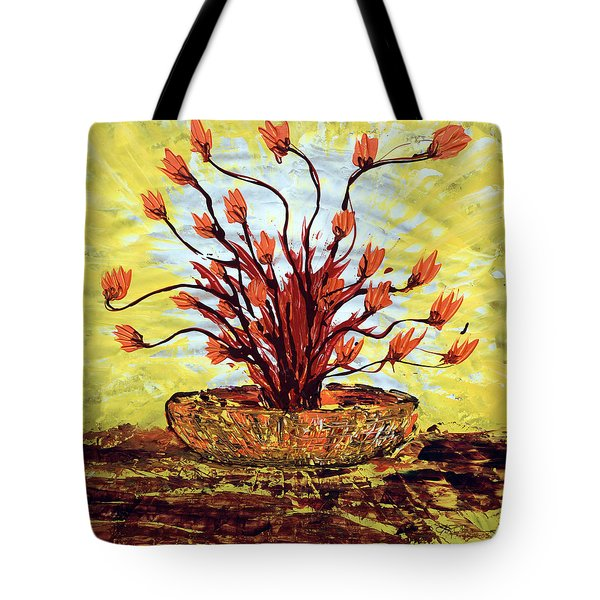 Tote Bag featuring the painting The Burning Bush by J R Seymour