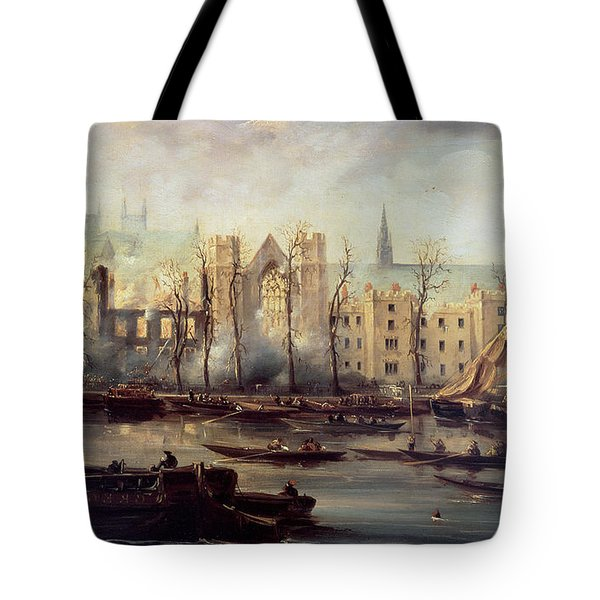 The Burning Of The Houses Of Parliament Tote Bag by The Burning of the Houses of Parliament