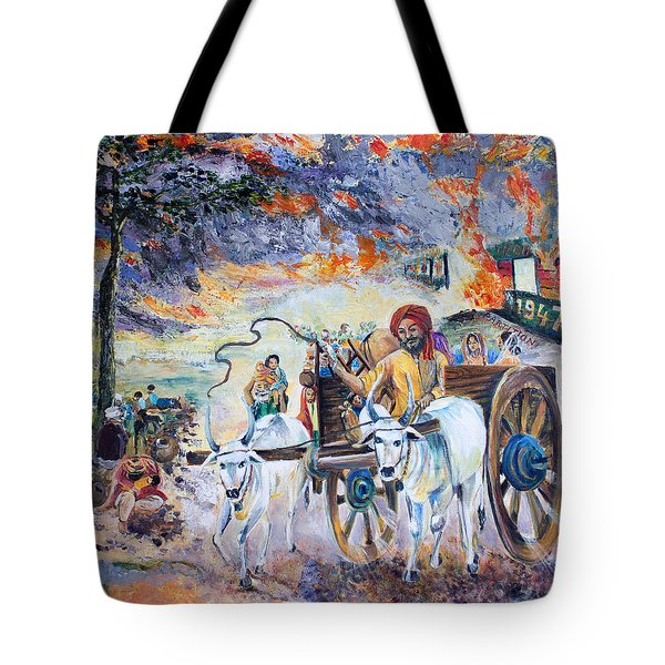 The Burning Punjab-1947 Tote Bag