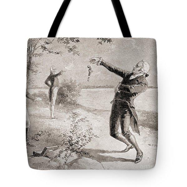 The Burr Hamilton Duel Tote Bag