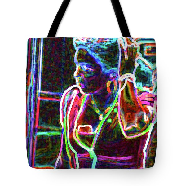 The Bus Stop  Tote Bag