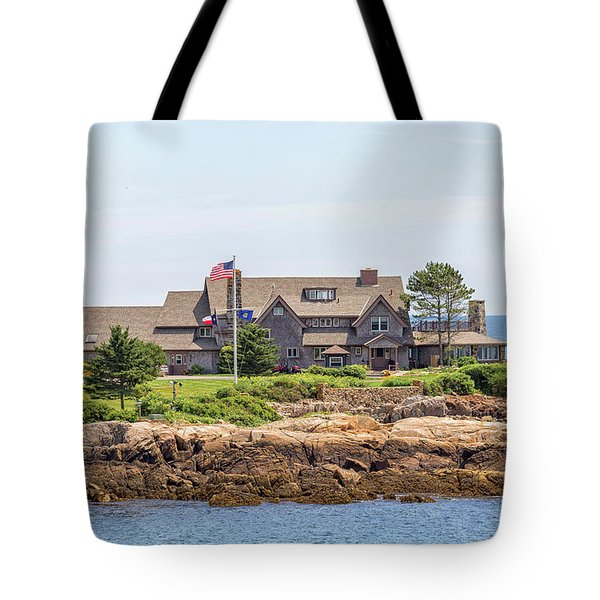 The Bush Family Compound On Walkers Point Tote Bag by Brian MacLean
