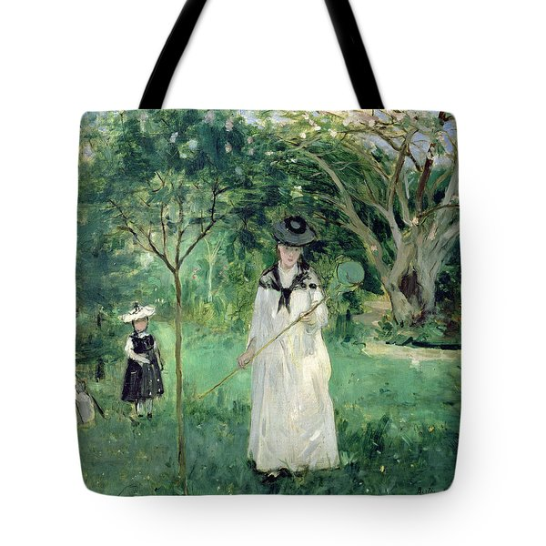 The Butterfly Hunt Tote Bag by Berthe Morisot