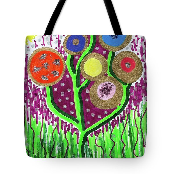 The Button Ball Tree Tote Bag