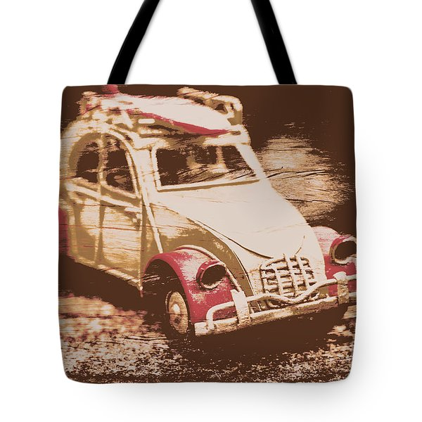 The Bygone Surfing Holiday Tote Bag
