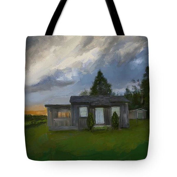 The Cabin On The Hill Tote Bag