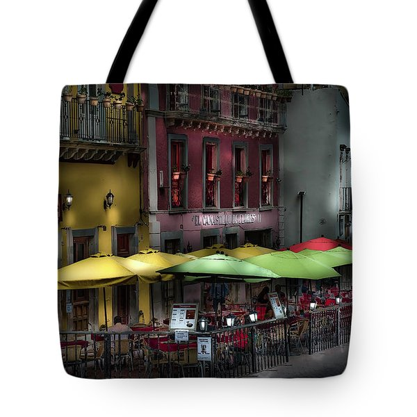The Cafe At Night Tote Bag
