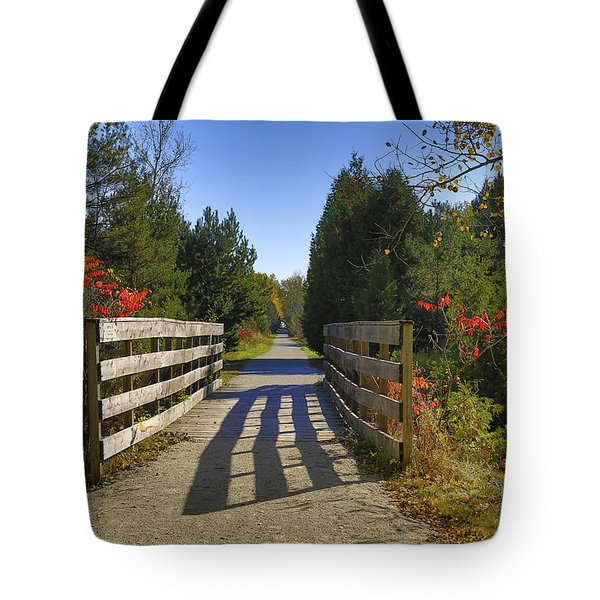 Tote Bag featuring the photograph The Caledon Trailway by Gary Hall