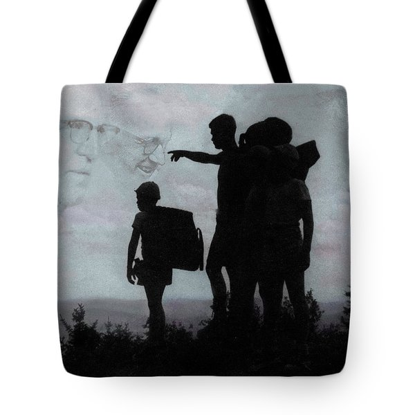 Tote Bag featuring the photograph The Call Centennial Cover Image by Wayne King