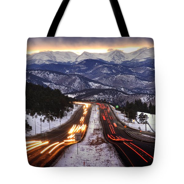 The Call Of The Mountains Tote Bag