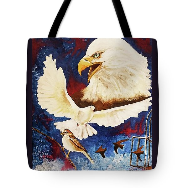 Tote Bag featuring the painting The Called And Chosen Ones by Jennifer Page