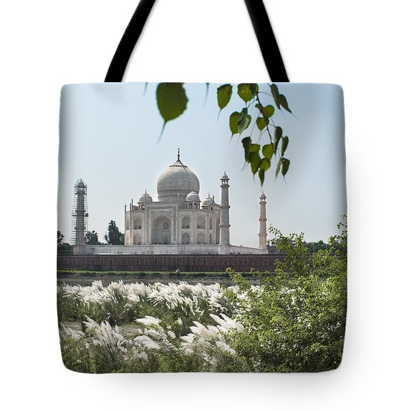 The Calm Behind The Taj Mahal Tote Bag