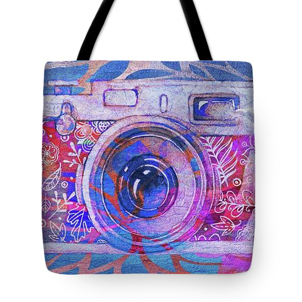 Tote Bag featuring the digital art The Camera - 02c3t by Variance Collections