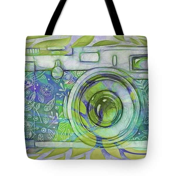 Tote Bag featuring the digital art The Camera - 02c5b by Variance Collections