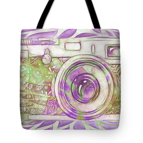 Tote Bag featuring the digital art The Camera - 02c6 by Variance Collections