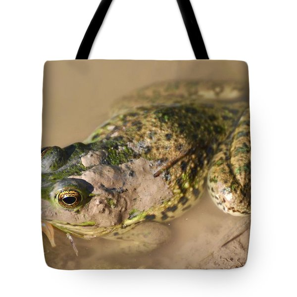 The Camouflage Frog Tote Bag