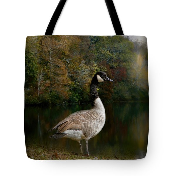 The Canadian Goose Tote Bag by Jai Johnson
