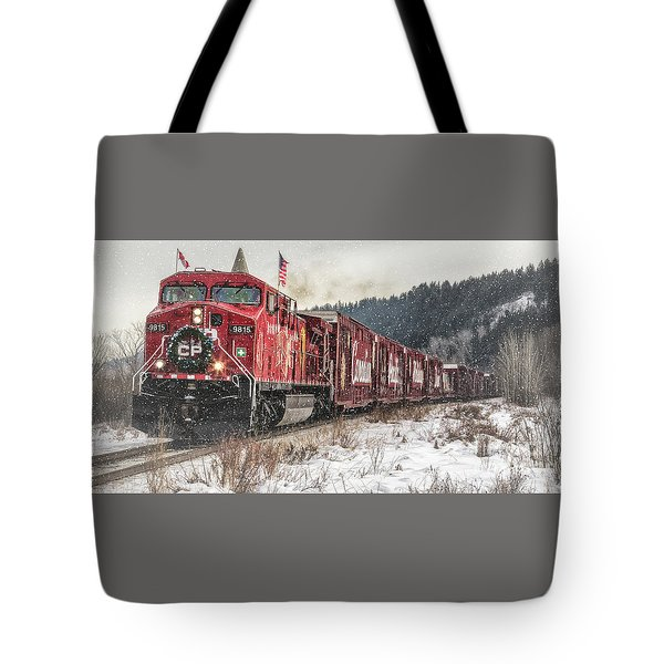 The Canadian Pacific Holiday Train Tote Bag