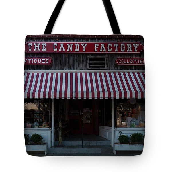 Tote Bag featuring the photograph The Candy Factory by Chris Flees