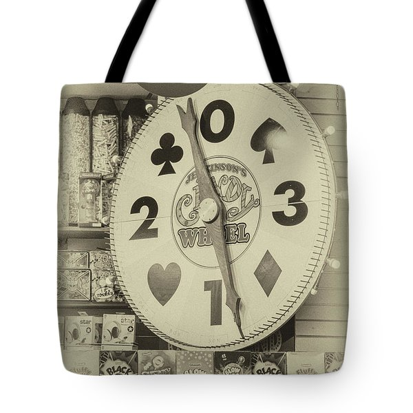 The Candy Wheel Point Pleasant Boardwalk Sepia Tote Bag