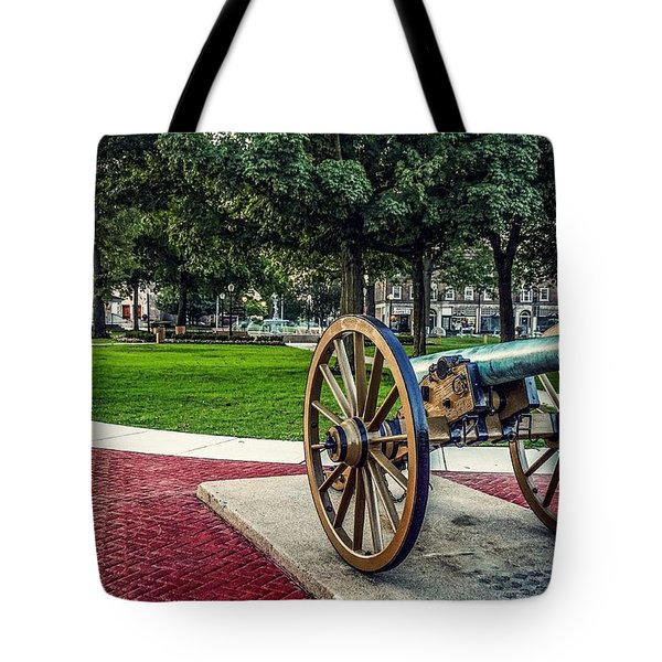 The Cannon In The Park Tote Bag