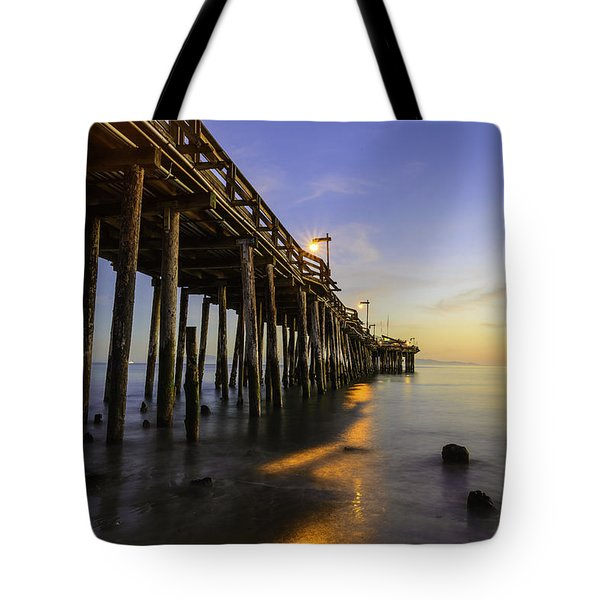 The Capitola Pier Tote Bag
