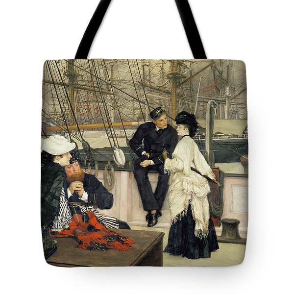 The Captain And The Mate Tote Bag by Tissot