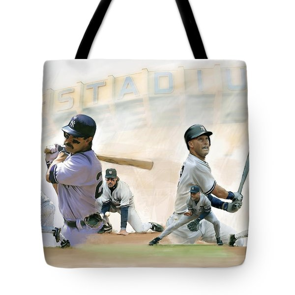 The Captains II Don Mattingly And Derek Jeter Tote Bag by Iconic Images Art Gallery David Pucciarelli