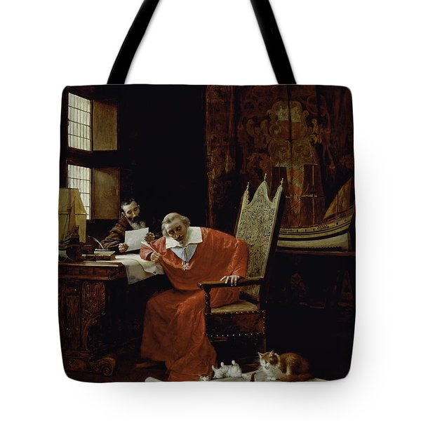 The Cardinal's Leisure  Tote Bag by Charles Edouard Delort