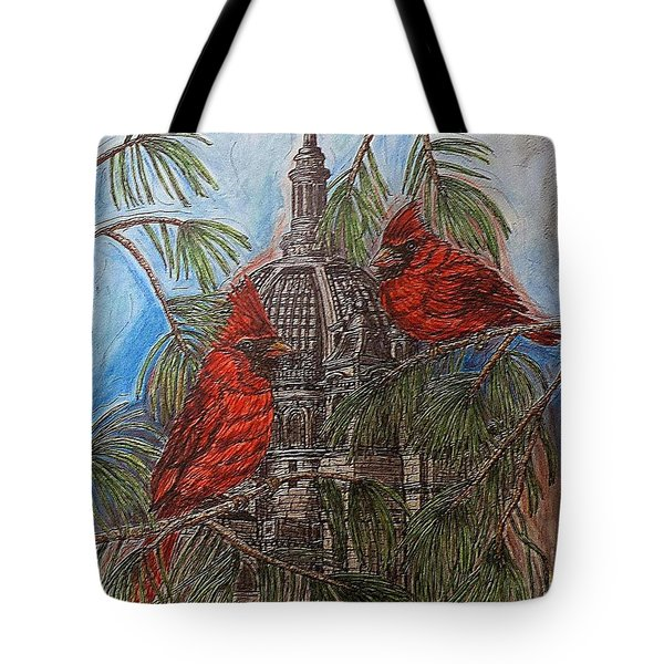 The Cardinals Visit St.pauls Cathedral Tote Bag