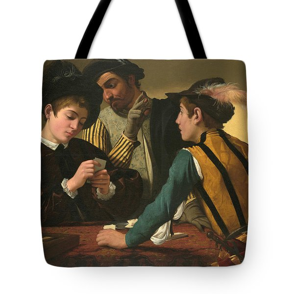 The Cardsharps  Tote Bag by Caravaggio