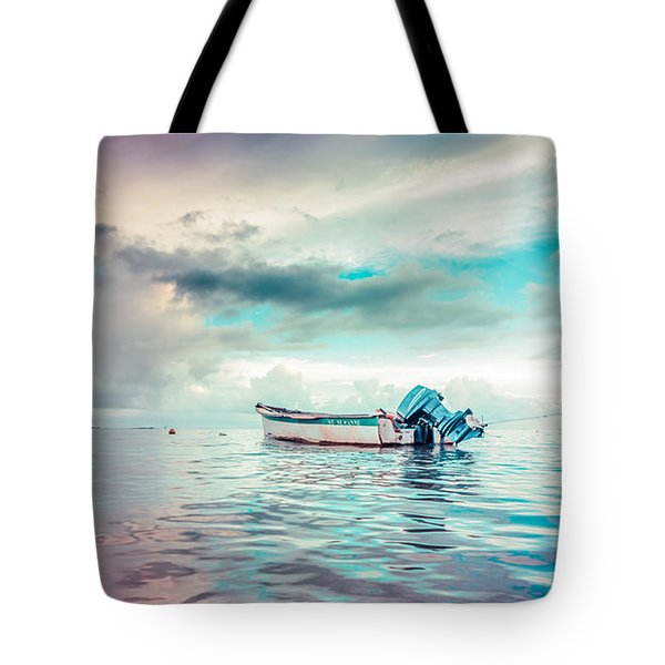 The Caribbean Morning Tote Bag