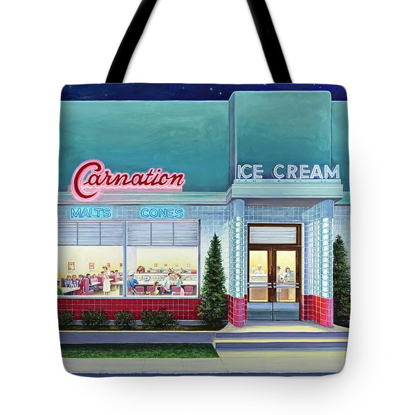 The Carnation Ice Cream Shop Tote Bag