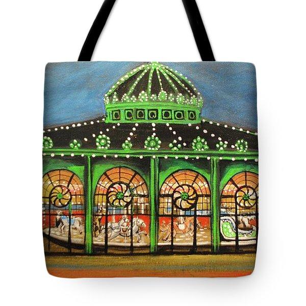 The Carousel Of Asbury Park Tote Bag
