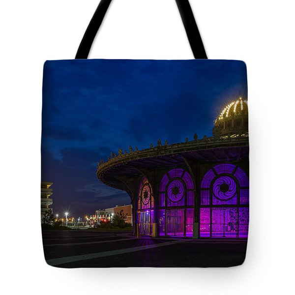 The Carousel Roundhouse At Asbury Park Tote Bag
