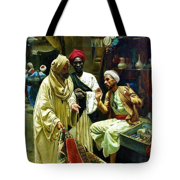 The Carpet Seller - Cairo Tote Bag by Pg Reproductions