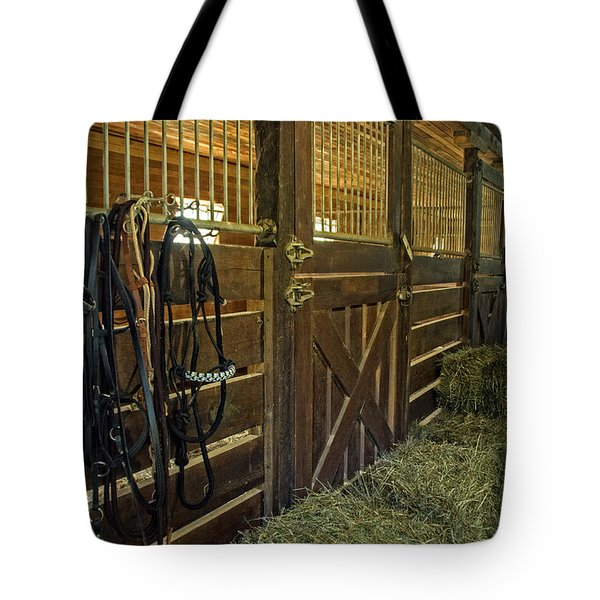 Tote Bag featuring the photograph The Carriage House by Judy  Johnson
