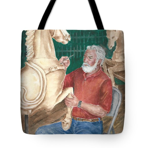 The Carver And His Horse Tote Bag