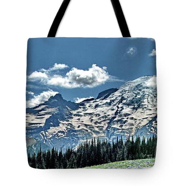 The Cascade Mountains And Mt. Rainier Tote Bag