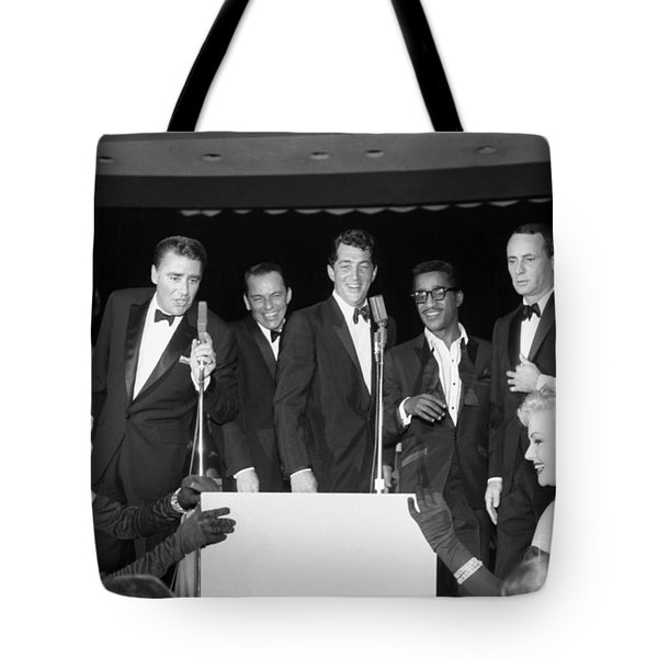 The Cast Of Ocean's 11 And Members Of The Rat Pack. Tote Bag