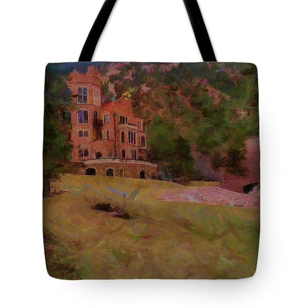Tote Bag featuring the digital art The Castle by Ernie Echols